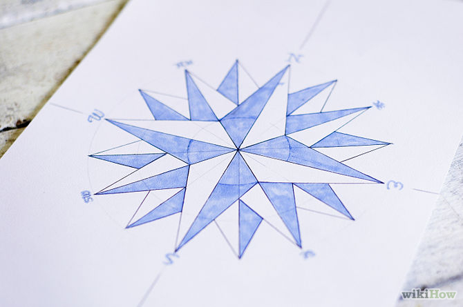 670px-Draw-a-Compass-Rose-Step-12